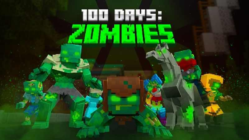 100 Days Zombies on the Minecraft Marketplace by Kubo Studios