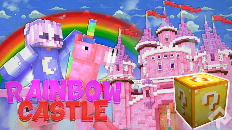 Rainbow Castle on the Minecraft Marketplace by RareLoot