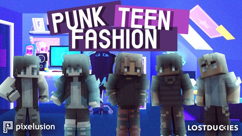 Punk Teen Fashion on the Minecraft Marketplace by Pixelusion