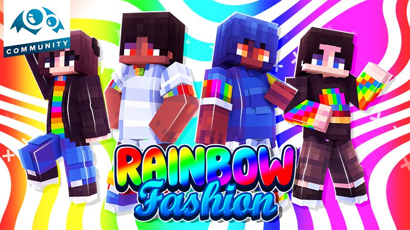 Rainbow Fashion on the Minecraft Marketplace by Monster Egg Studios