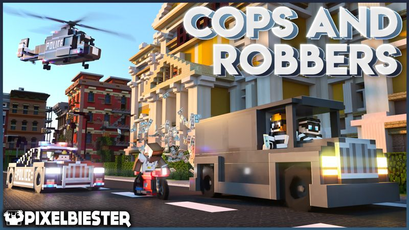 Cops and Robbers  Roleplay on the Minecraft Marketplace by Pixelbiester