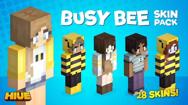 Busy Bee Skin Pack on the Minecraft Marketplace by The Hive