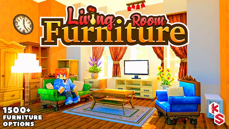 Living Room Furniture on the Minecraft Marketplace by Kreatik Studios
