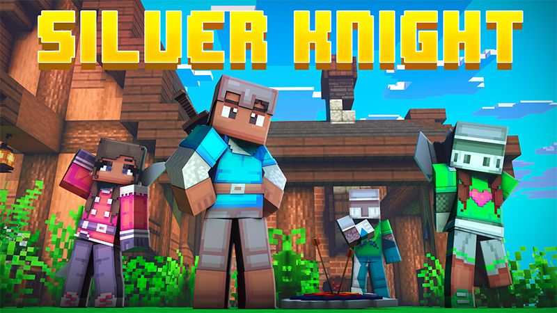 Silver Knight on the Minecraft Marketplace by Dark Lab Creations