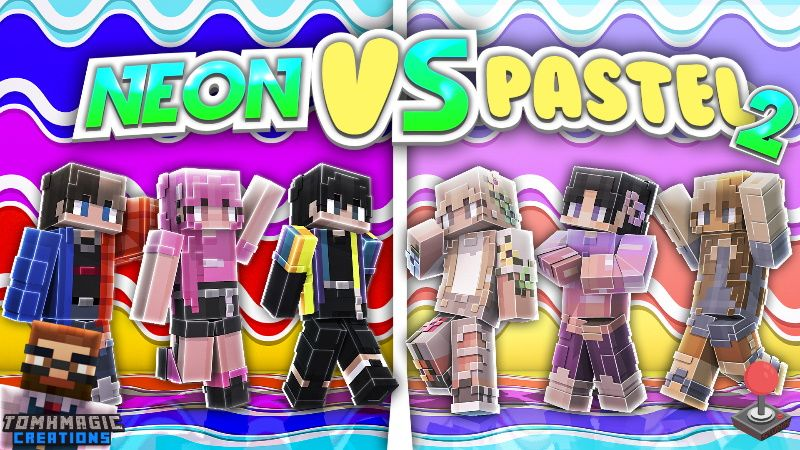 Neon vs Pastel Fashion 2 on the Minecraft Marketplace by Tomhmagic Creations