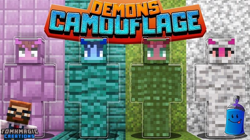 Demons Camouflage on the Minecraft Marketplace by Tomhmagic Creations