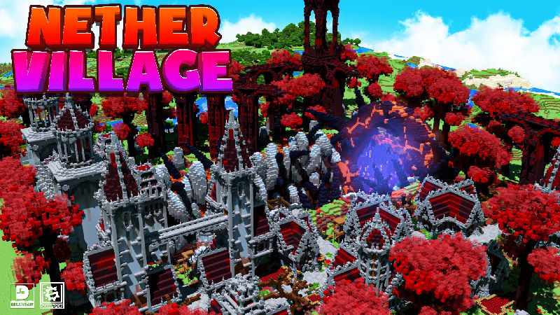 Nether Village on the Minecraft Marketplace by Gearblocks