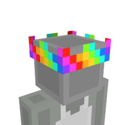 Rainbow Crown on the Minecraft Marketplace by Mob Pie