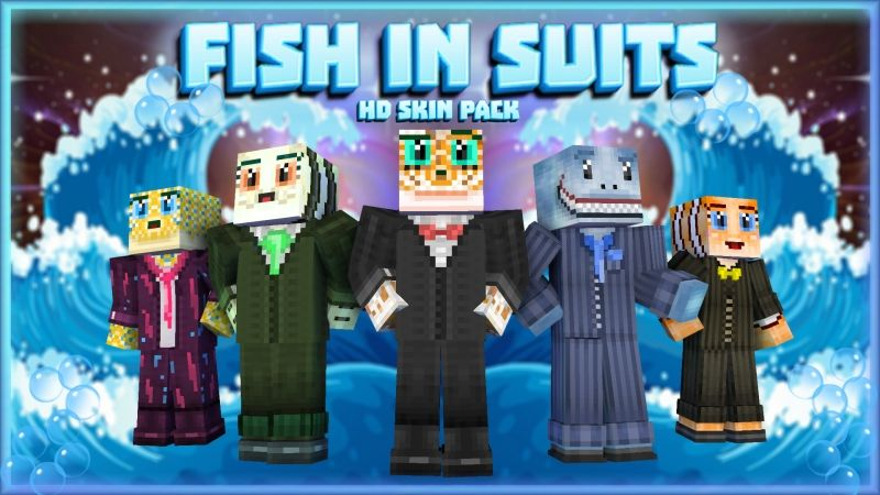 Fish In Suits HD Skin Pack on the Minecraft Marketplace by HearttCore Creations