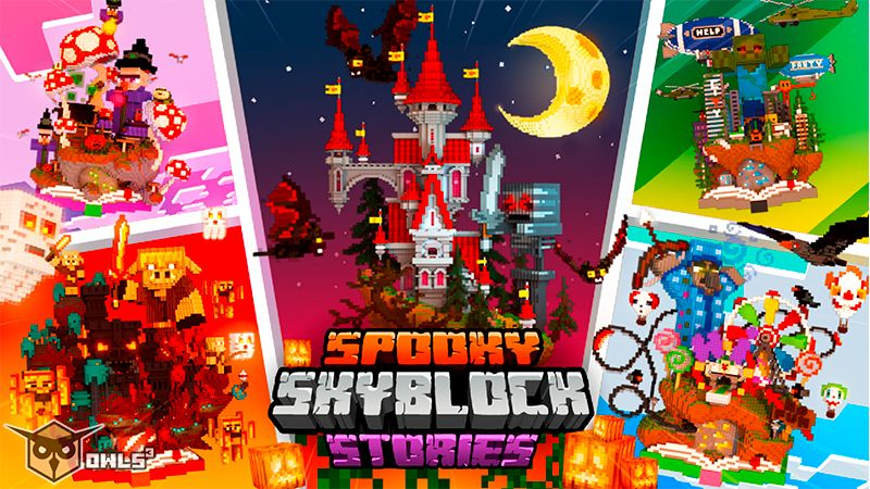 Spooky Skyblock Stories on the Minecraft Marketplace by Owls Cubed