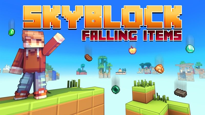 Skyblock Falling Items on the Minecraft Marketplace by Cypress Games