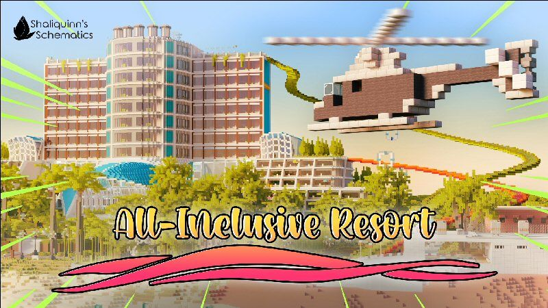 AllInclusive Resort on the Minecraft Marketplace by Shaliquinn's Schematics