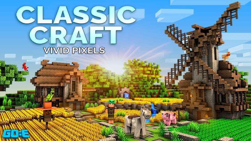 Classic Craft  Vivid Pixels on the Minecraft Marketplace by GoE-Craft