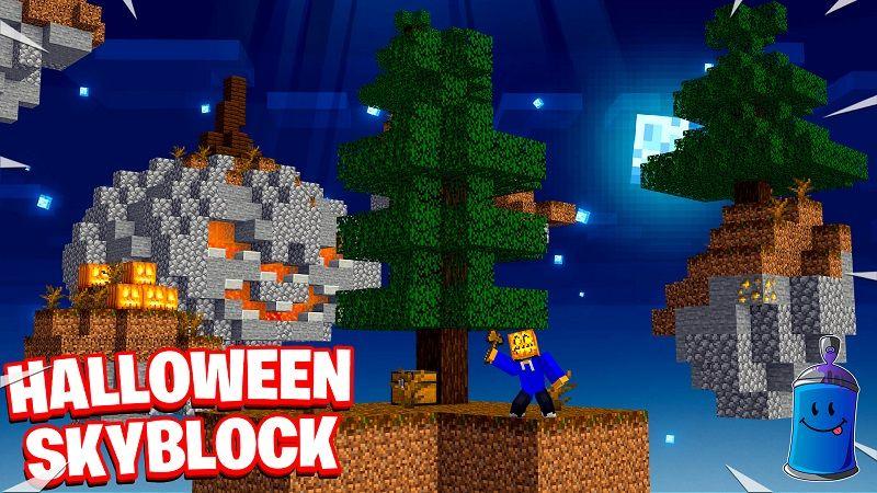 Halloween Skyblock on the Minecraft Marketplace by 4KS Studios