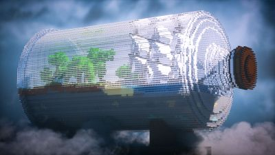 World in a Bottle on the Minecraft Marketplace by Odyssey Builds