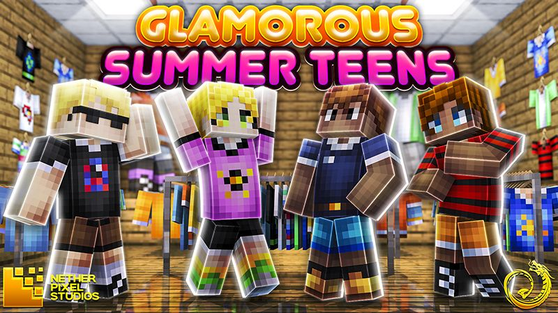 Glamorous Summer Teens on the Minecraft Marketplace by Netherpixel