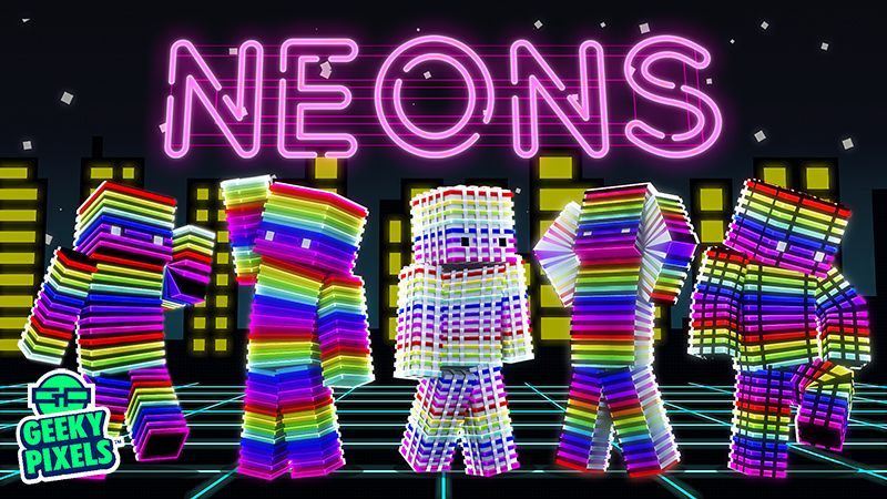 Neons on the Minecraft Marketplace by Geeky Pixels