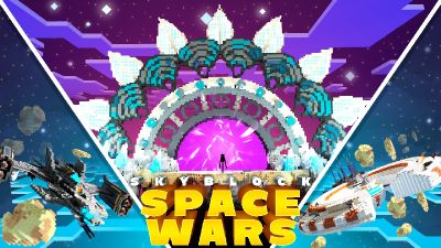 Skyblock Space Wars on the Minecraft Marketplace by inPixel