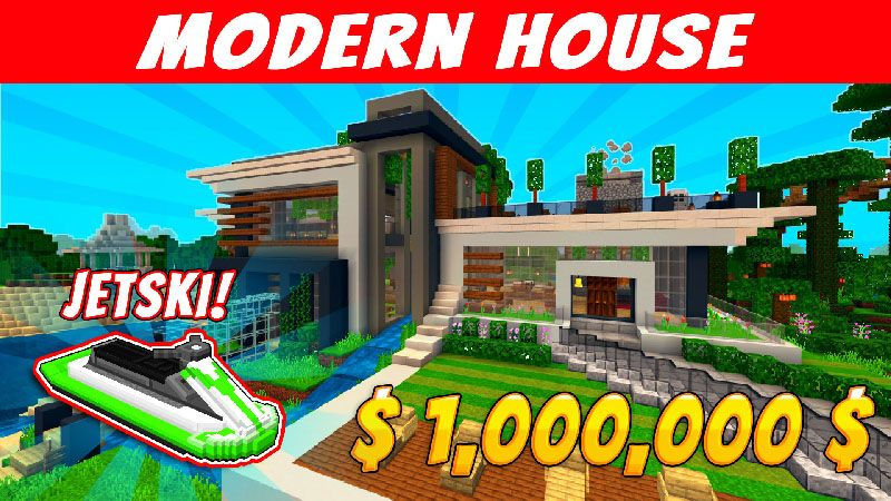 Modern House on the Minecraft Marketplace by VoxelBlocks