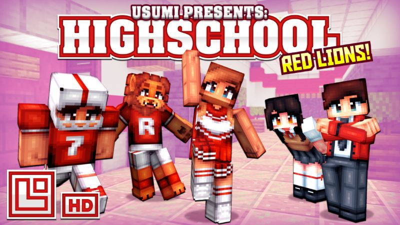 High School Red Lions on the Minecraft Marketplace by Pixel Squared