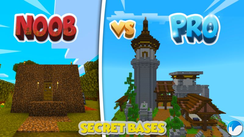 Noob VS Pro Secret Bases on the Minecraft Marketplace by Snail Studios