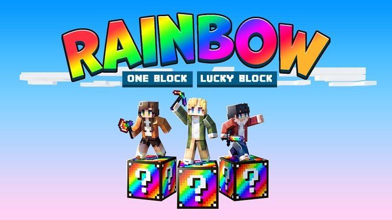 Rainbow One Block Lucky Block on the Minecraft Marketplace by BBB Studios