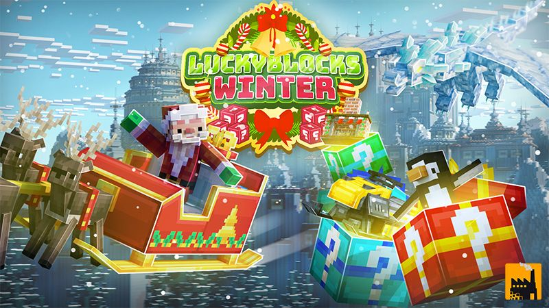Lucky Blocks Winter on the Minecraft Marketplace by Block Factory