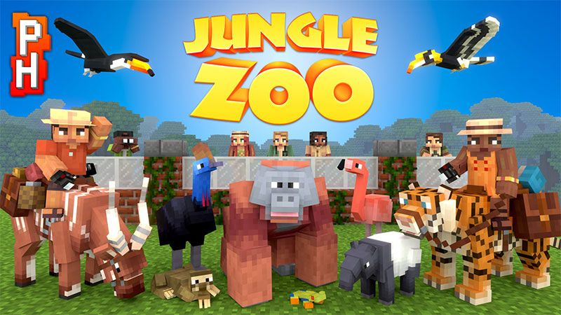 Jungle Zoo on the Minecraft Marketplace by PixelHeads