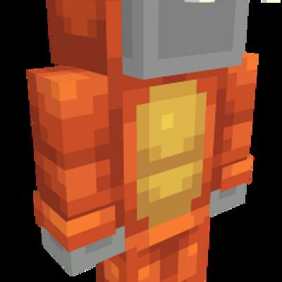 Orange Dragon Onesie on the Minecraft Marketplace by Spark Universe