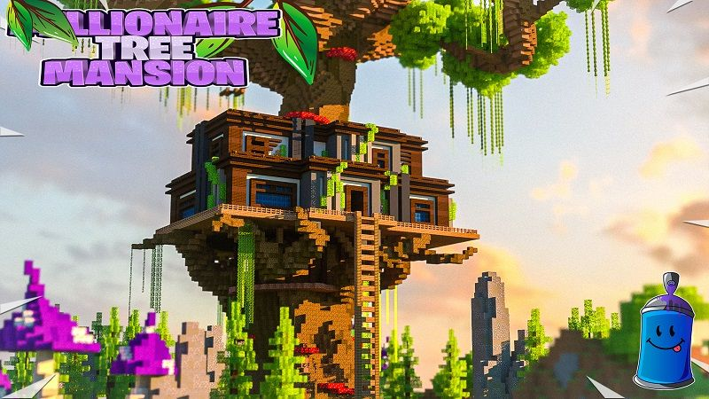 Millionaire Tree Mansion on the Minecraft Marketplace by Fall Studios