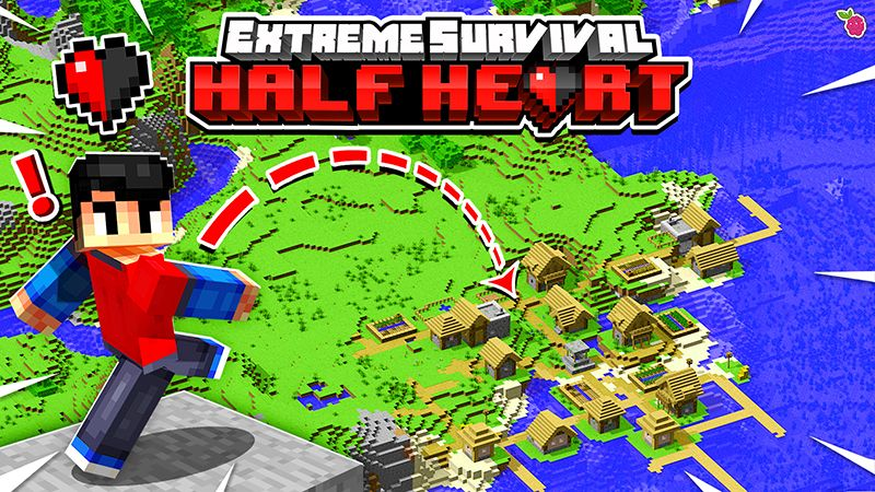 Extreme Survival Half Heart on the Minecraft Marketplace by Razzleberries