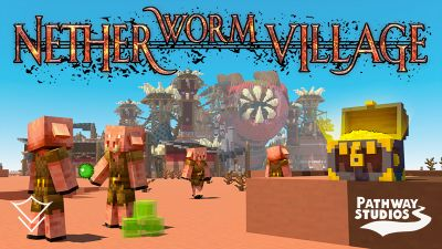 Nether Worm Village on the Minecraft Marketplace by Pathway Studios