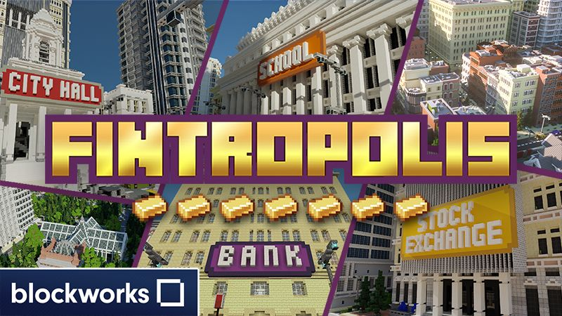 Fintropolis on the Minecraft Marketplace by Blockworks
