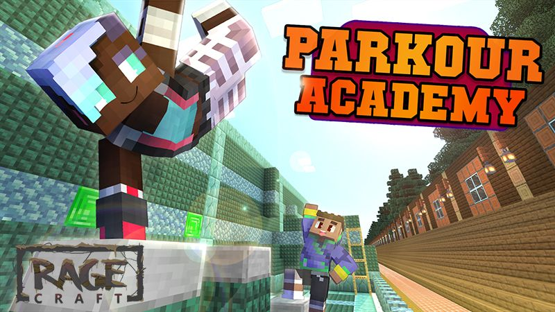 Parkour Academy on the Minecraft Marketplace by The Rage Craft Room