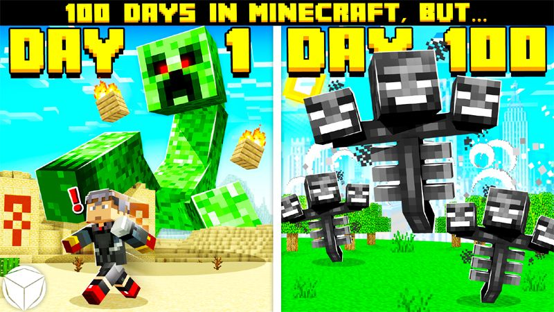 100 Days in Minecraft BUT on the Minecraft Marketplace by Logdotzip