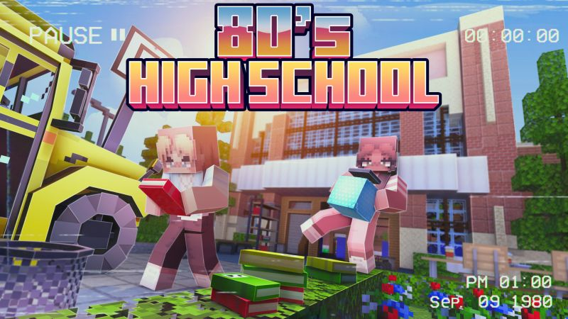 80s High School on the Minecraft Marketplace by CubeCraft Games