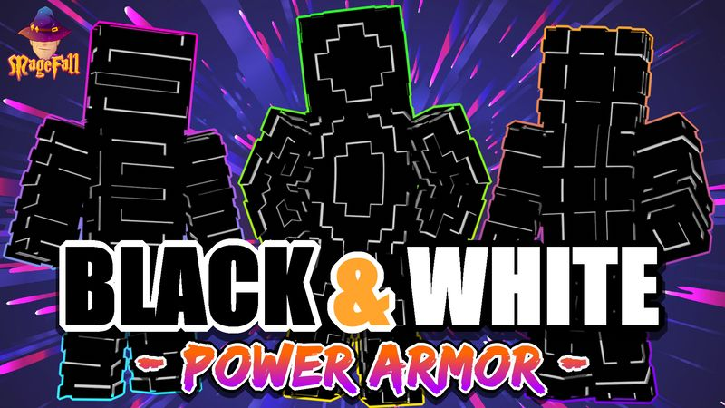 Black and White Power Armor on the Minecraft Marketplace by Magefall