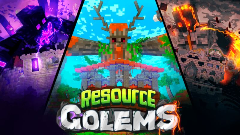 Resource Golems on the Minecraft Marketplace by stonemasons
