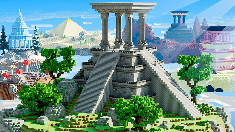 Skyblock Temples on the Minecraft Marketplace by Odyssey Builds