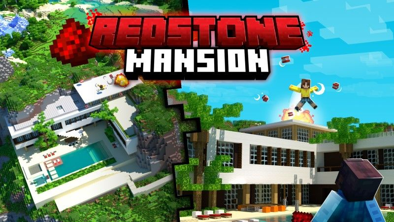 Redstone Mansion on the Minecraft Marketplace by Shapescape