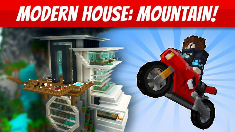 Modern House Mountain on the Minecraft Marketplace by VoxelBlocks