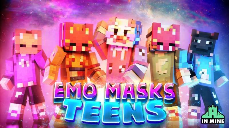 Emo Masks Teens on the Minecraft Marketplace by In Mine