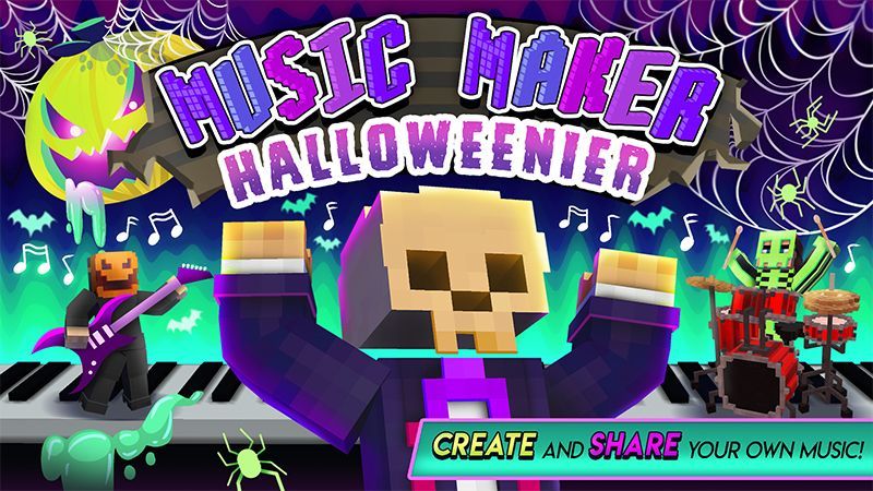 Music Maker Halloweenier on the Minecraft Marketplace by House of How
