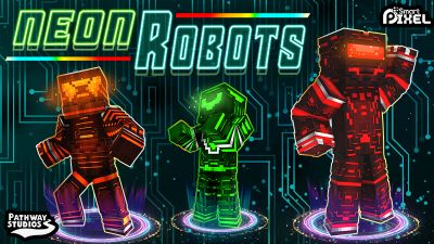 Neon Robots on the Minecraft Marketplace by Pathway Studios
