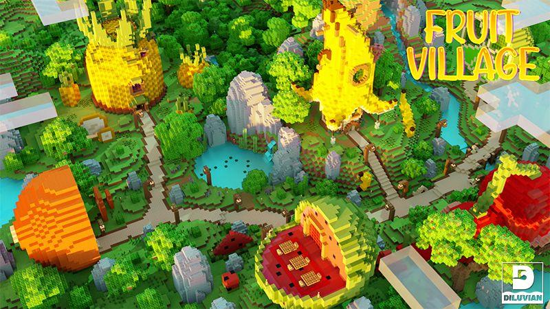 Fruit Village on the Minecraft Marketplace by Gearblocks