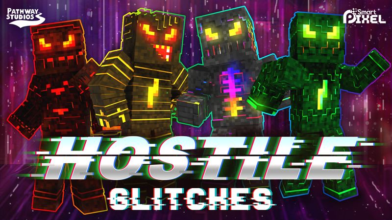 Hostile Glitches on the Minecraft Marketplace by Pathway Studios