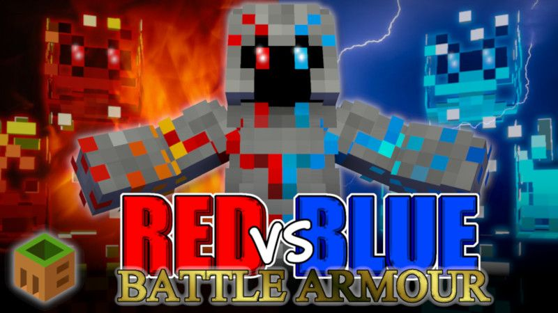 Red vs Blue Battle Armour on the Minecraft Marketplace by MobBlocks