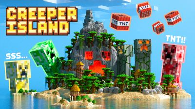 Creeper Island on the Minecraft Marketplace by Enchanted