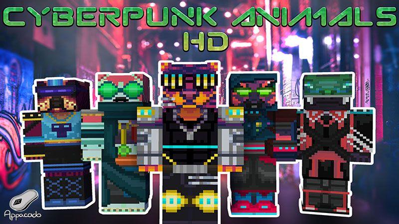 Cyberpunk Animals HD on the Minecraft Marketplace by Appacado