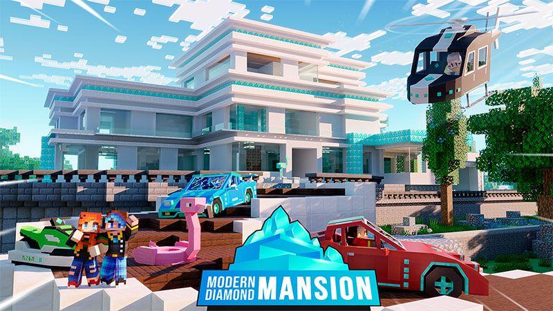 Modern Diamond Mansion on the Minecraft Marketplace by Odyssey Builds